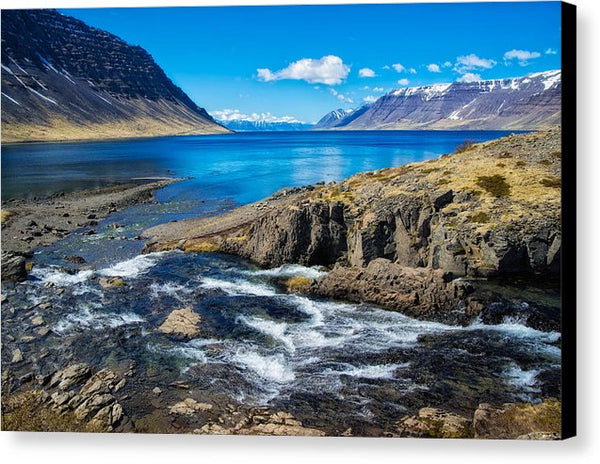 Fjord In Iceland - Canvas Print