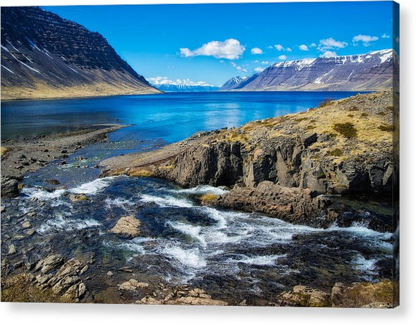 Fjord In Iceland - Acrylic Print