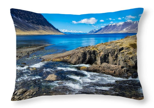 Fjord In Iceland - Throw Pillow