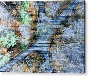 Forest Path From Above Cool Drone Photo - Acrylic Print