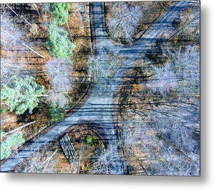 Forest Path From Above Cool Drone Photo - Metal Print