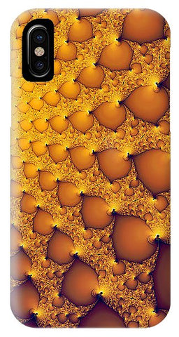Fractal Artwork Golden And Yellow Abstract - Phone Case