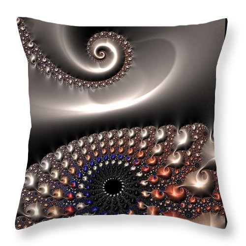 Fractal Contact - Throw Pillow