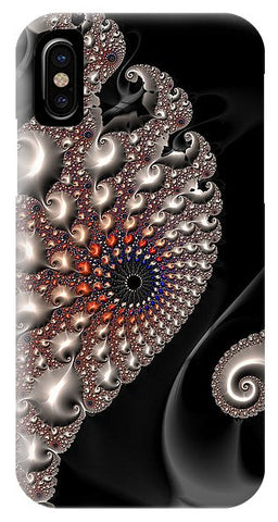 Fractal Contact - Silver Copper Black - Phone Case