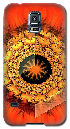 Fractal Design 02 Red Yellow Black - Phone Case