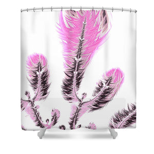 Fractal Flower Digital Artwork Light Pastel Pink - Shower Curtain