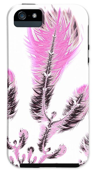Fractal Flower Digital Artwork Light Pastel Pink - Phone Case
