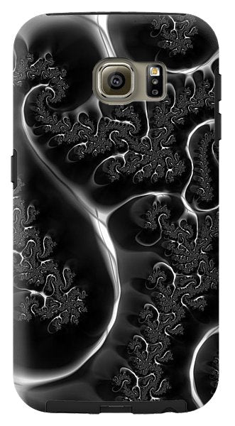 Fractal Veins Black And White - Phone Case