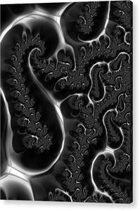 Fractal Veins Black And White - Acrylic Print