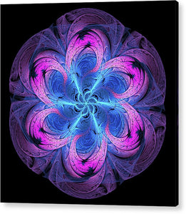 Fractal Wormhole In Outer Space Blue Purple Pink - Acrylic Print