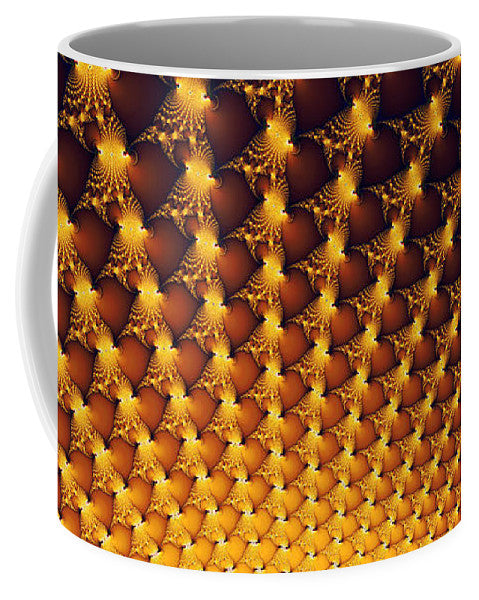 Fractal Yellow Golden And Black Firework - Mug