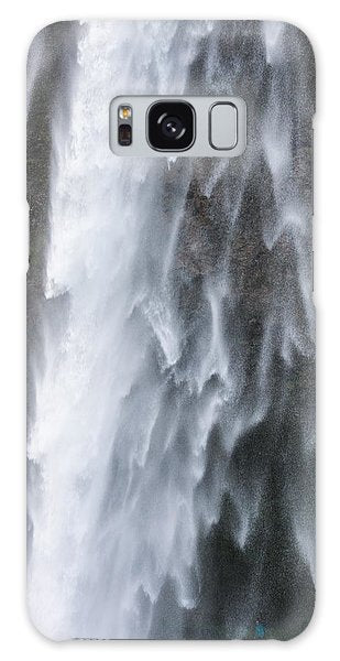 Frozen Water - Waterfall Detail - Seljalandsfoss Iceland  - Phone Case