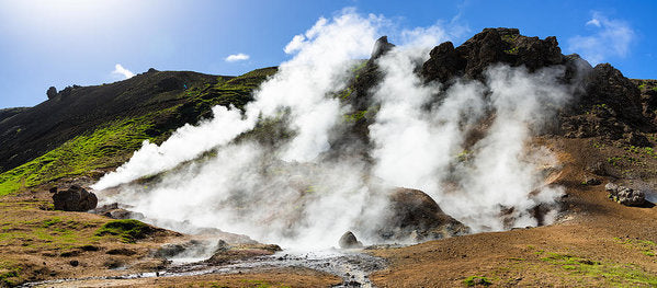 Geothermal Area With Steaming Hot Springs In Iceland - Art Print