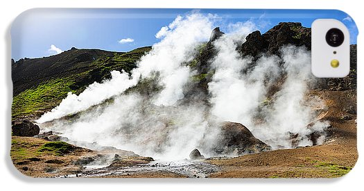 Geothermal Area With Steaming Hot Springs In Iceland - Phone Case