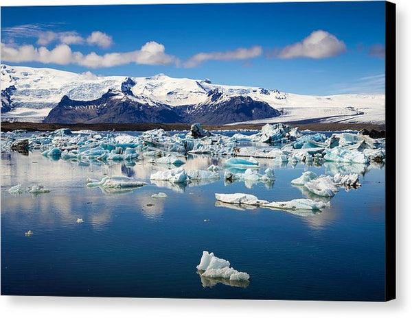 Glacier Lagoon In Iceland - Canvas Print