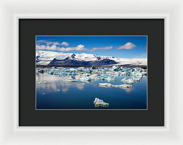 Glacier Lagoon In Iceland - Framed Print