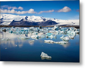 Glacier Lagoon In Iceland - Metal Print