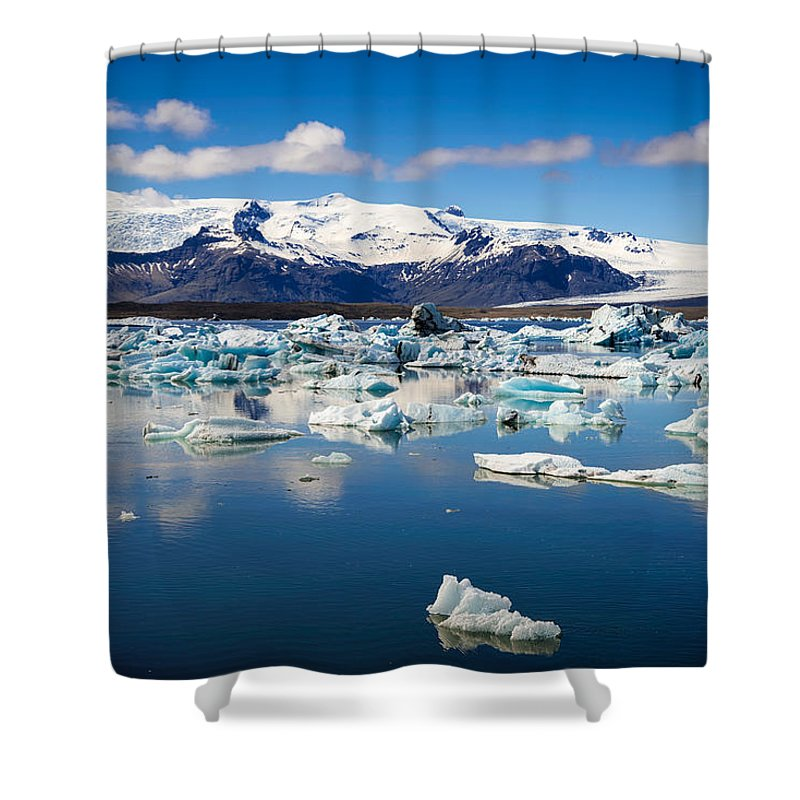Glacier Lagoon In Iceland - Shower Curtain