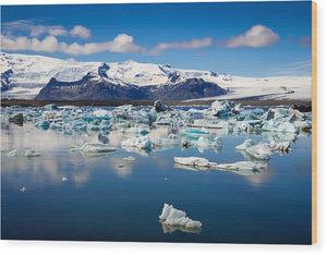 Glacier Lagoon In Iceland - Wood Print