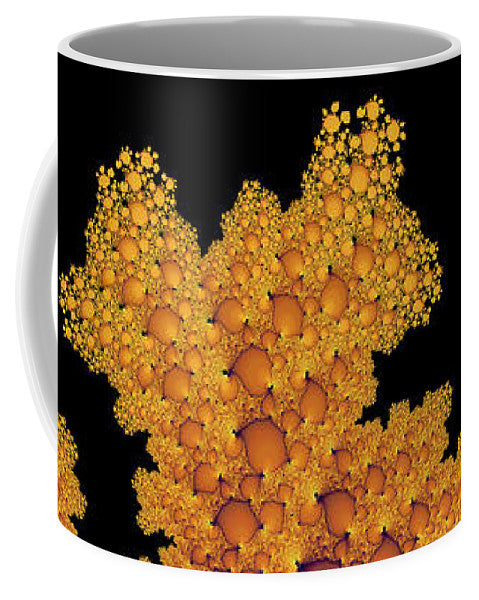 Golden Autumn In Fractal Land Vertical - Mug
