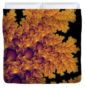 Golden Autumn In Fractal Land Vertical - Duvet Cover