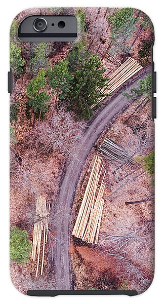 Green And Orange Forest Aerial Image - Phone Case