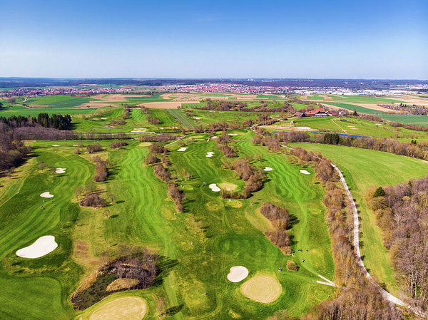 Green Golf Course Aerial View - Art Print