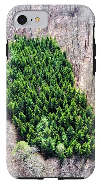 Green Tree Island In March Forest From Above - Phone Case