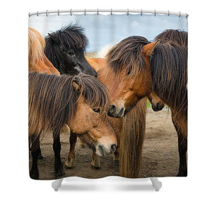 Horses In Iceland - Shower Curtain