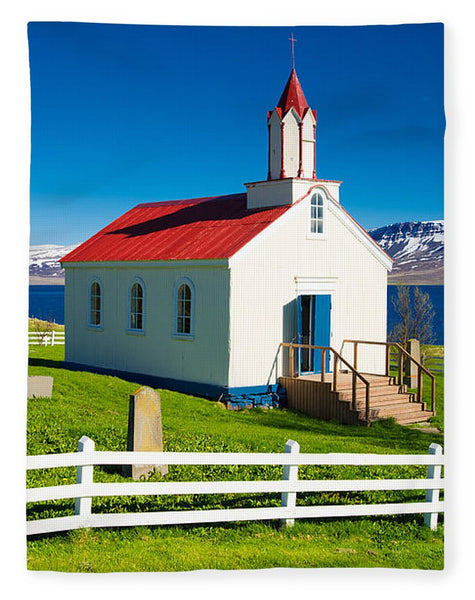 Hrafnseyri Church In Iceland - Blanket