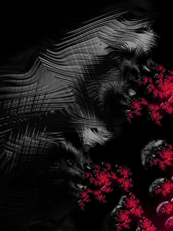 Hunger - Dark And Blood Red Fractal Art - Art Print
