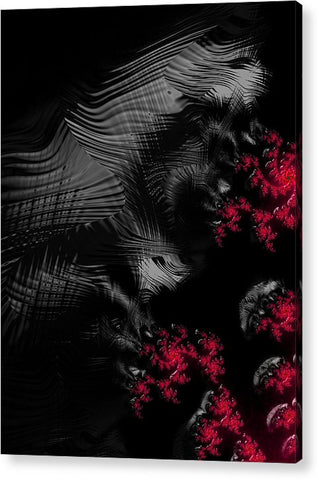 Hunger - Dark And Blood Red Fractal Art - Acrylic Print