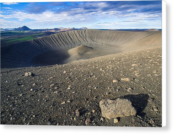 Hverfell Crater Landscape North Iceland - Canvas Print
