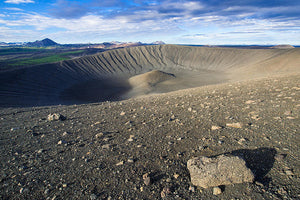 Hverfell Crater Landscape North Iceland - Art Print