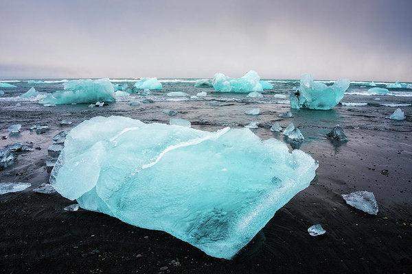 Iceberg Pieces In Iceland Jokulsarlon - Art Print