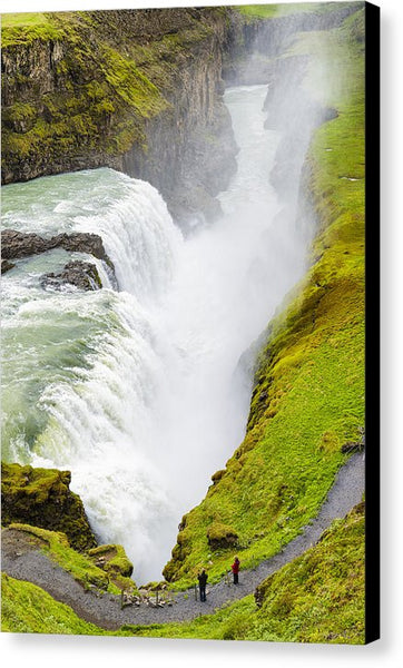 Iceland Gullfoss Waterfall - Canvas Print