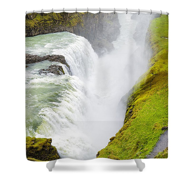 Iceland Gullfoss Waterfall - Shower Curtain