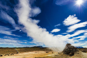 Iceland Hverir - Fumarole With Steam In Fascinating Landscape - Art Print