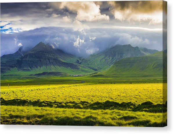 Iceland Landscape Snaefellsnes With Amazing Light - Canvas Print