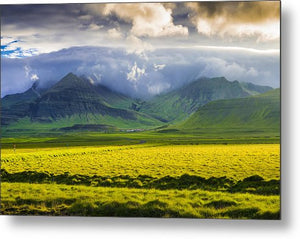 Iceland Landscape Snaefellsnes With Amazing Light - Metal Print