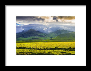 Iceland Landscape Snaefellsnes With Amazing Light - Framed Print