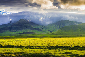 Iceland Landscape Snaefellsnes With Amazing Light - Art Print