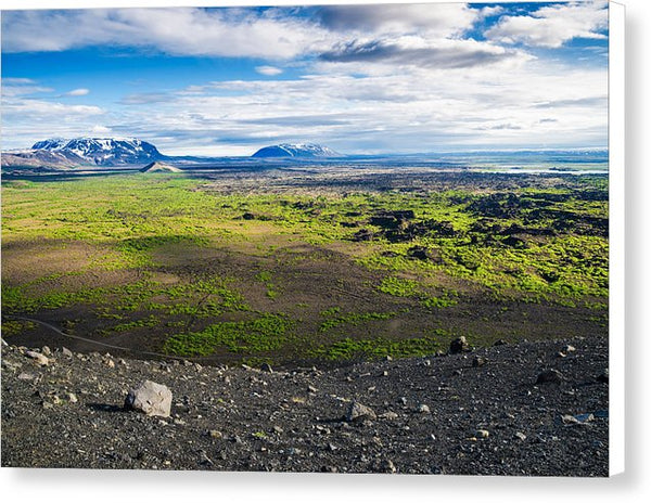 Iceland Landscape - View From Hverfjall Crater - Canvas Print