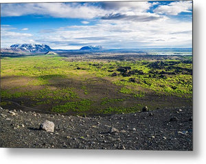 Iceland Landscape - View From Hverfjall Crater - Metal Print