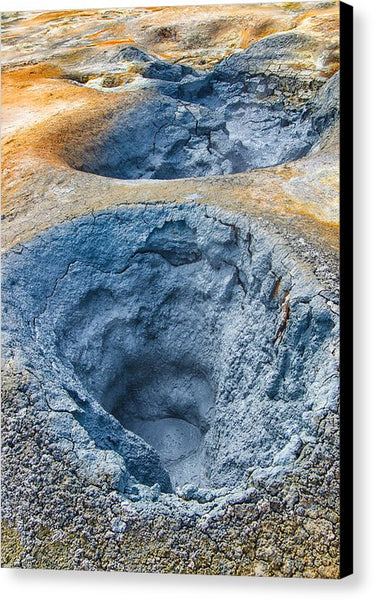 Iceland Natural Abstract Mudpot And Sulphur - Canvas Print