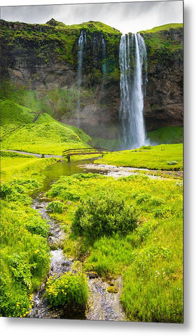 Iceland Seljalandsfoss Waterfall - Metal Print