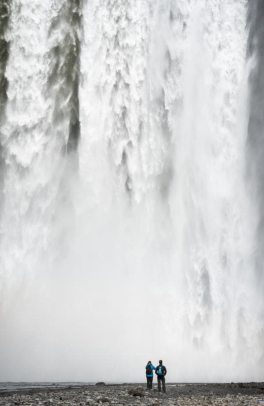 Impressive Waterfall Skogafoss In Iceland With Lots Of Water - Art Print