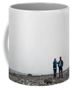 Impressive Waterfall Skogafoss In Iceland With Lots Of Water - Mug