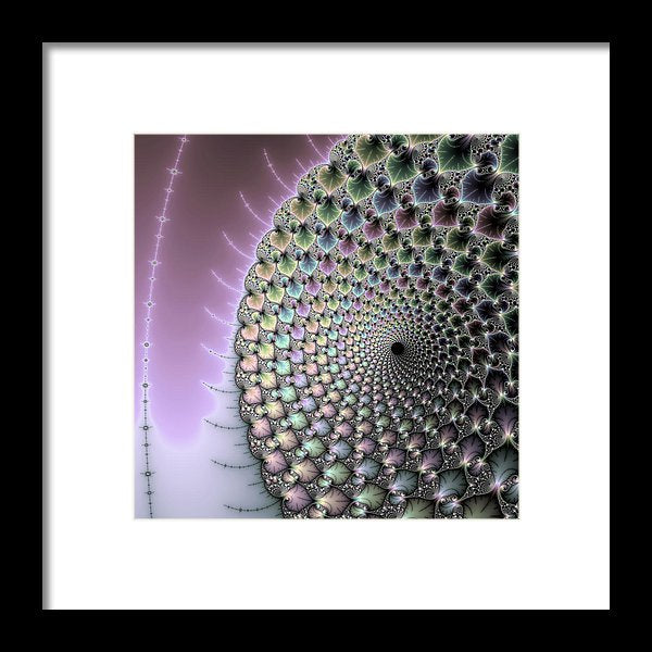 Infinity - Beautiful Mandelbrot Fractal - Framed Print