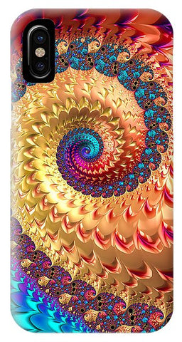 Joyful Fractal Spiral Full Of Energy - Phone Case